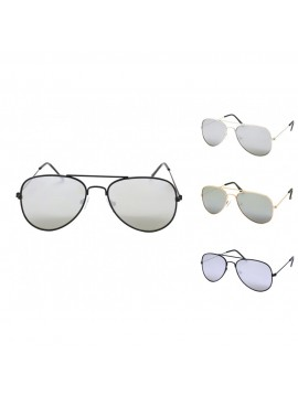 Kidi Oriveno Aviator Sunglasses, Kids Silver Mirrored Lens Asst