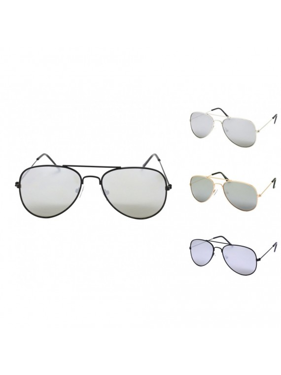 Kidi Oriveno Aviator Sunglasses, Kids Silver Mirrored Lens Asst