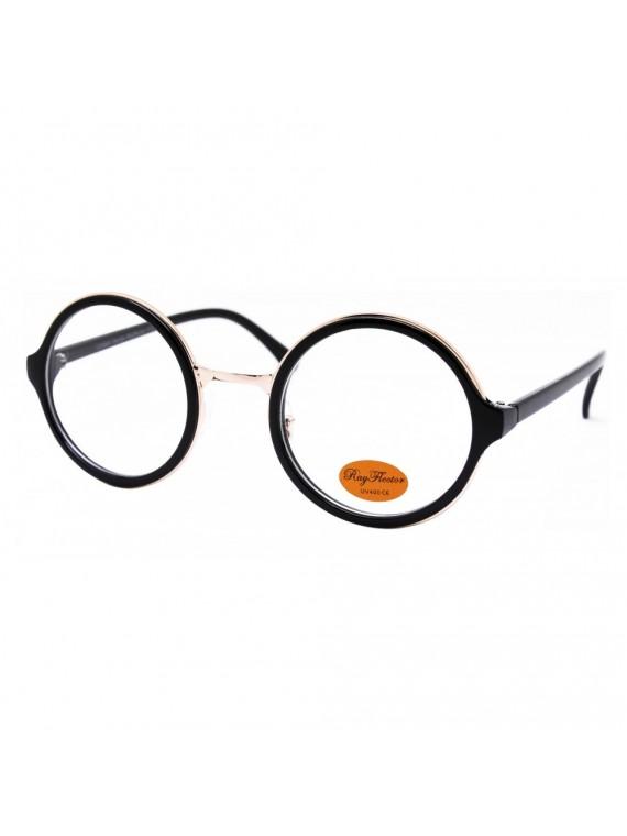 Bony Vintage Oversized Round Sunglasses, Clear Lens Asst
