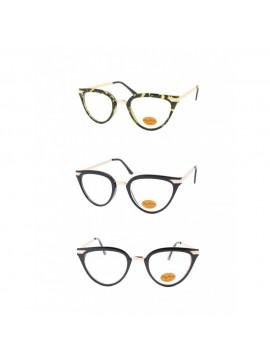 Kalie Vintage Sunglasses, Clear Lens Asst