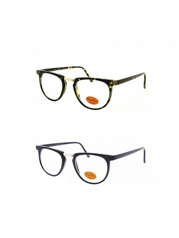 Drio Retro Sunglasses, Clear Lens Asst