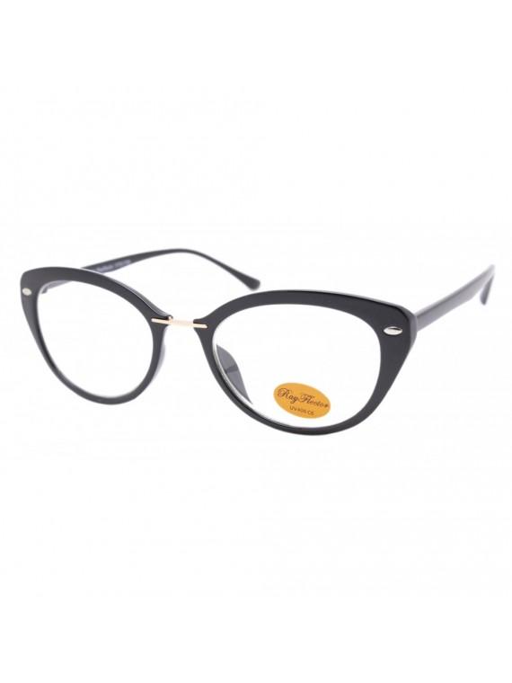 Vivian Retro Sunglasses, Clear Lens Asst