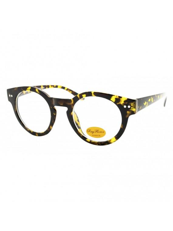 Goria Round Vintage Sunglasses, Clear Lens Asst