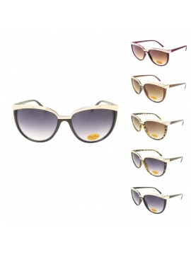 Anise Retro Metal Eyebrow Sunglasses, Asst