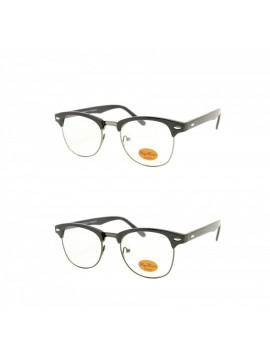 Gaddi Clubmaster Sunglasses, Clear Lens Asst