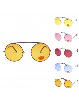 Quio Retro Round Sunglasses, Asst
