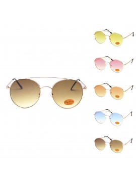 Yakie Retro Metal Sunglasses, Asst