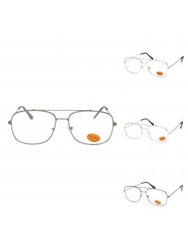 Urv Vintage Metal Frame Sunglasses, Clear Lens Asst