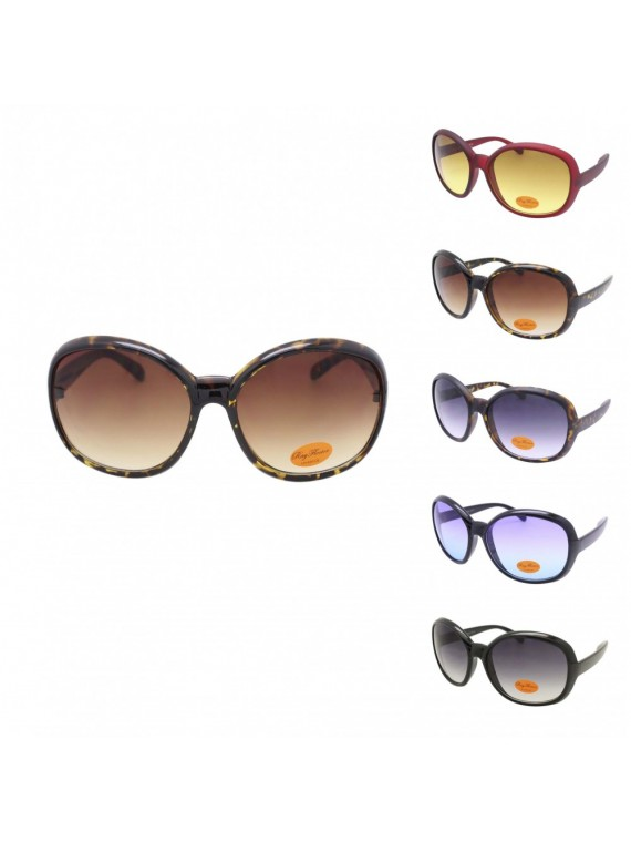Meryl Fashion Round Oversized Sunglasses, Asst