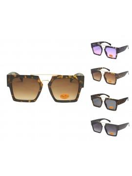 Giga Flat Top Retro Sunglasses, Asst