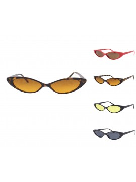 Roiddy Narrow Frame Cat Eye Style Sunglasses, Asst, Asst