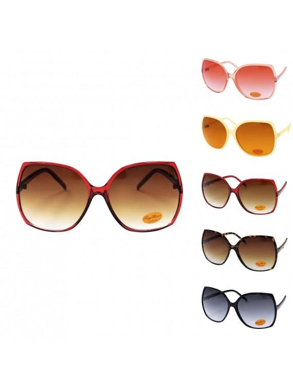 Ewan Oversized Vintage Style Sunglasses, Asst