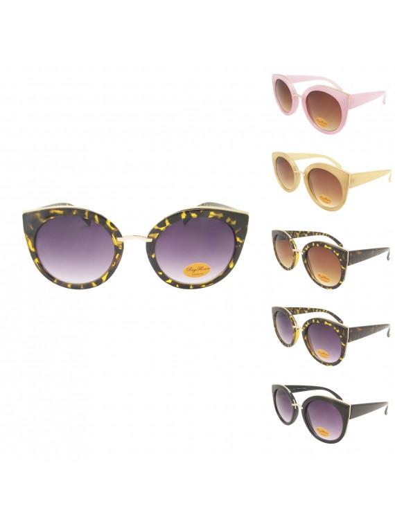 Cilan Vintage Remade Round Sunglasses, Asst