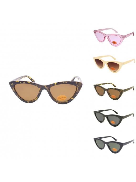 Frion Retro Cat Eye Style Sunglasses, Asst