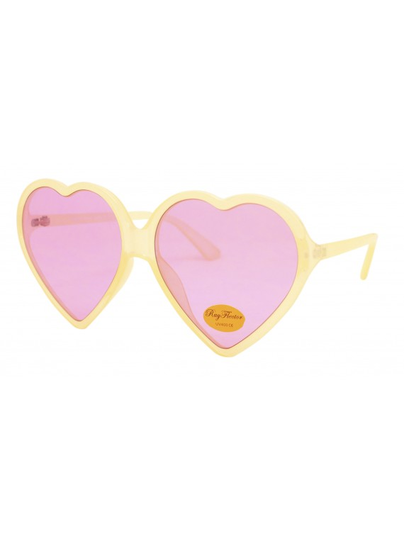Chiku Oversized Heart Shape Sunglasses, Asst