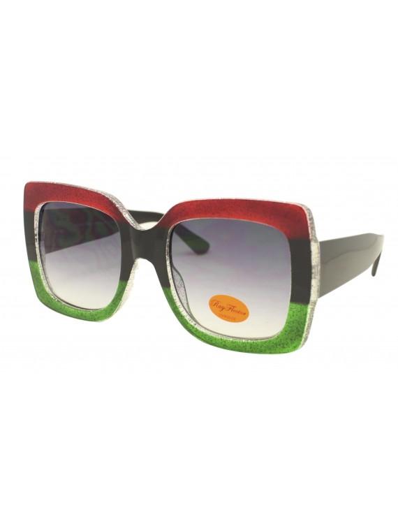Lex Colorful Lens Oversized Fashion Sunglasses, Asst
