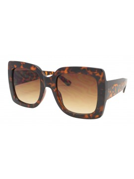 Lex Colorful Lens Oversized Fashion Sunglasses, Demi Brown