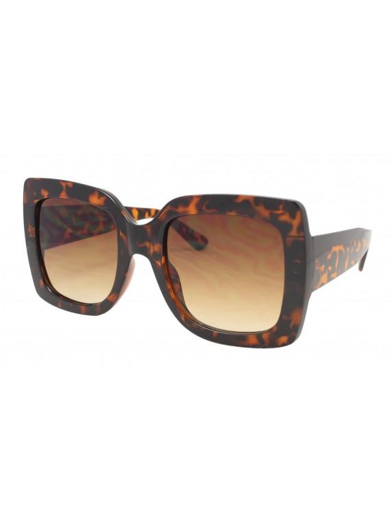 Lex Colorful Lens Oversized Fashion Sunglasses, Demi Brown
