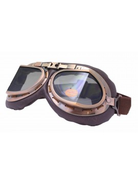 Coblie Steampunk Goggles Sunglasses, Bronze Frame With Somke Lens
