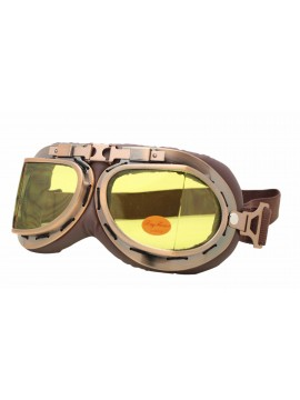 Coblie Steampunk Goggles Sunglasses, Bronze Frame With Yellow Lens