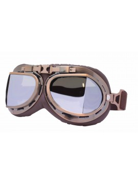Coblie Steampunk Goggles Sunglasses, Bronze Frame With Silver Mirror Lens
