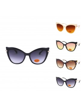 Izora Oversized Cat Eye Style Sunglasses, Asst