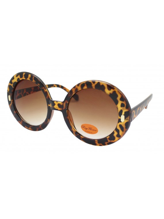 Zalle Oversized Round Fashion Sunglasses With Dot, Asst
