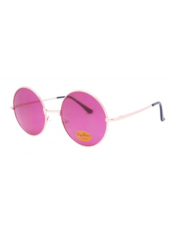 Zoilo Metal Frame Vintage Round Sunglasses, Asst