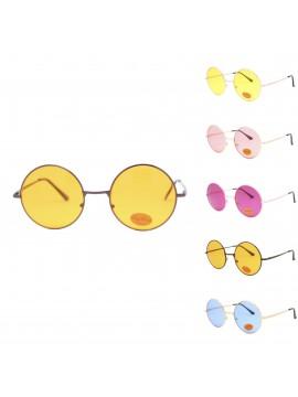 Zoilo Metal Frame Vintage Round Sunglasses, Asst