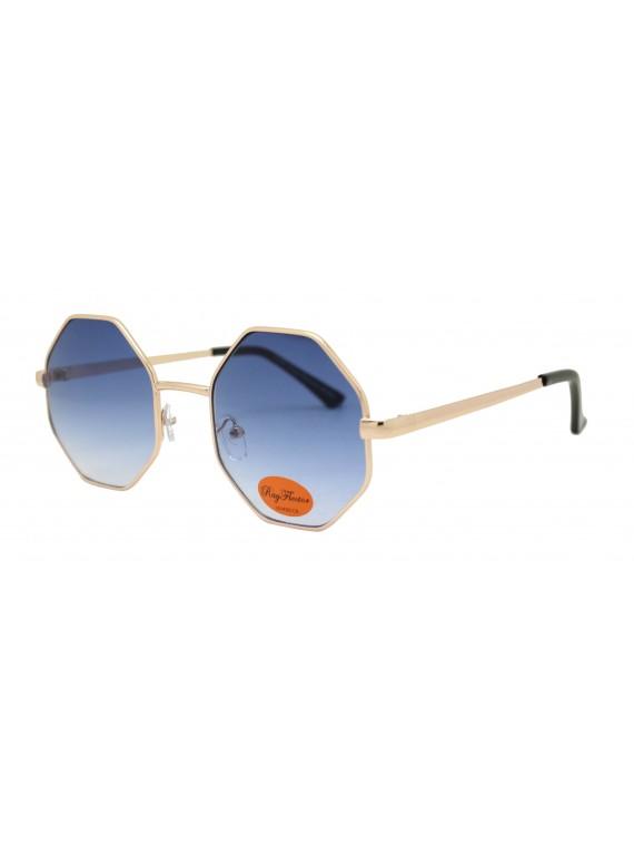 Ergio Octagon Metal Frame Retro Sunglasses, Asst