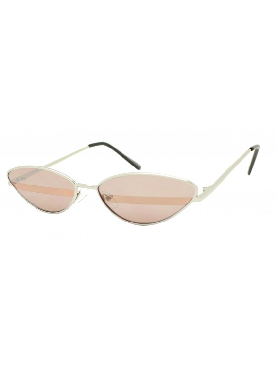 Osie Metal Frame Cat Eye Style Retro Sunglasses, Asst