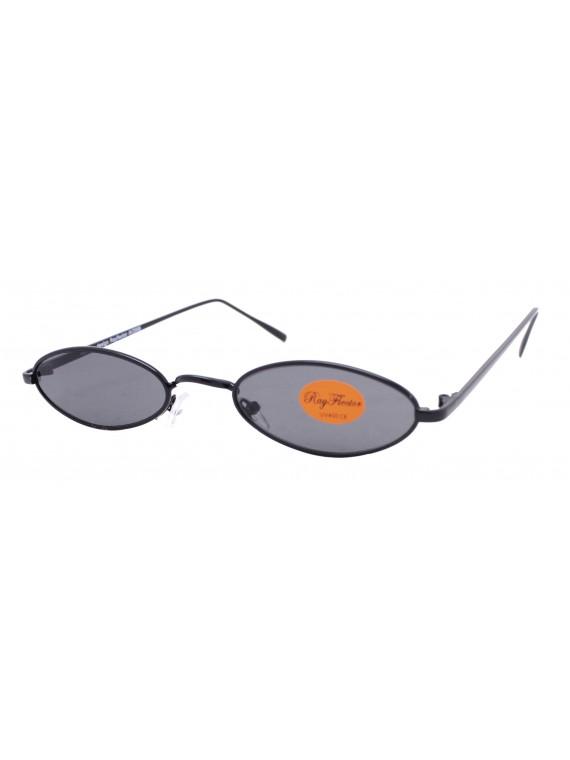 Vincy Narrow Metal Frame Retro Sunglasses, Asst