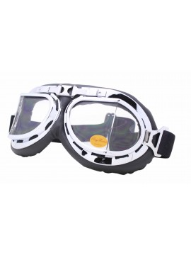 Nochy Steampunk Goggles Sunglasses, Clear Lens