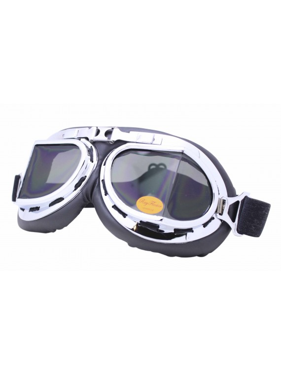 Nochy Steampunk Goggles Sunglasses, Smoked Lens