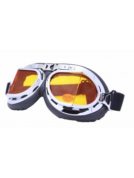 Nochy Steampunk Goggles Sunglasses, Orange Lens