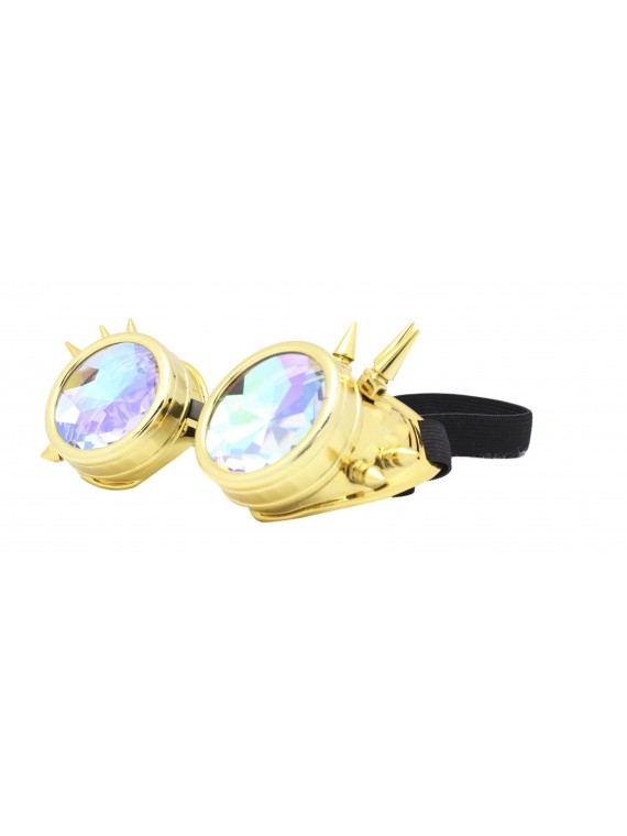 Carrmi Steampunk Goggles Sunglasses, Gold
