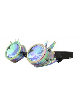 Carrmi Steampunk Goggles Sunglasses, Hot Steel