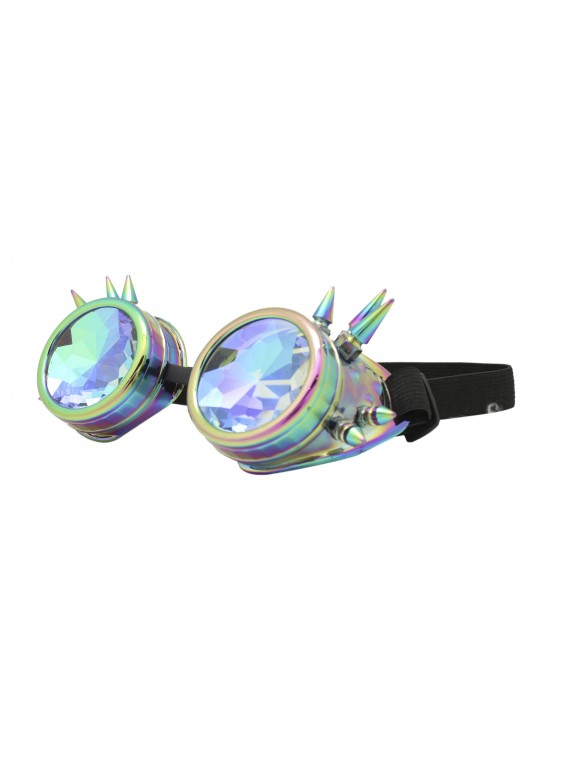 Carrmi Steampunk Goggles Sunglasses, Hot Steel