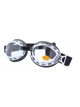 Harol Steampunk Goggles Sunglasses, Clear Lens