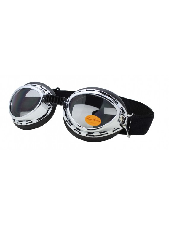 Harol Steampunk Goggles Sunglasses, Smoke Lens
