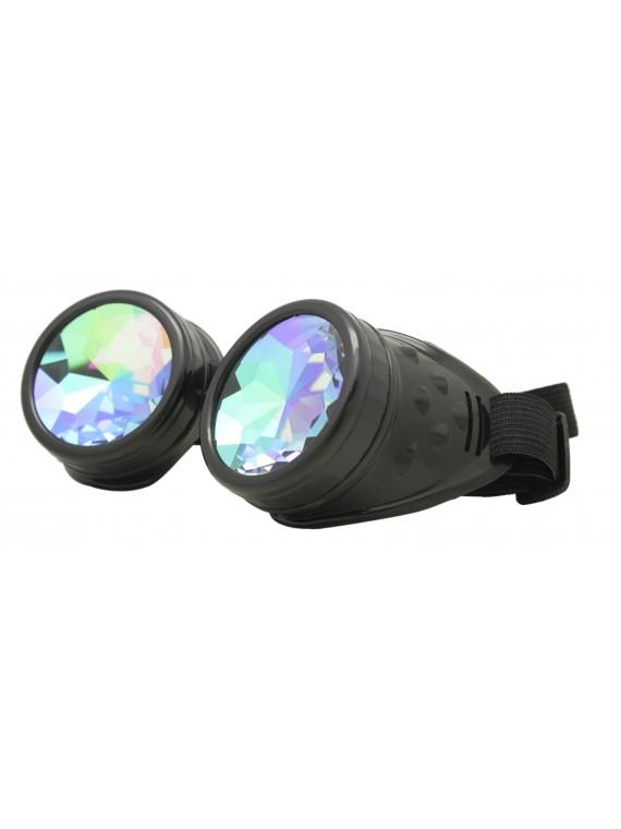 Renc Steampunk Goggles Sunglasses, Black