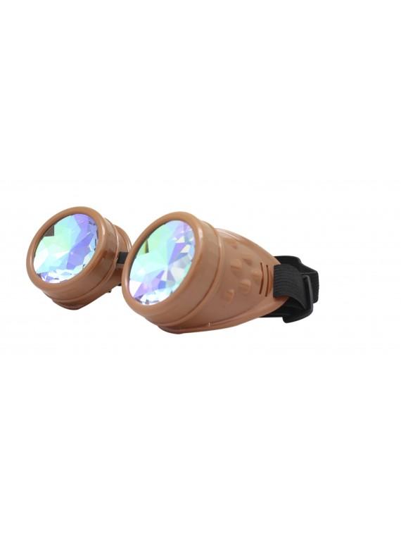 Renc Steampunk Goggles Sunglasses, Brown