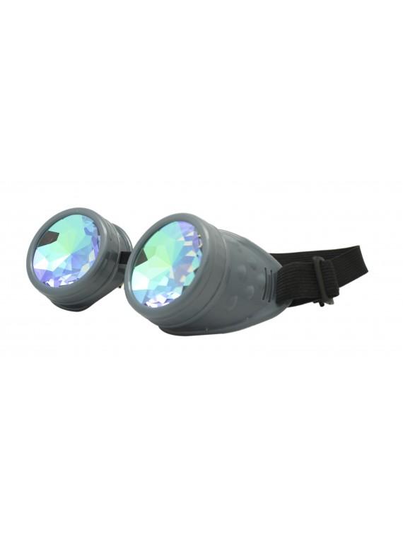 Renc Steampunk Goggles Sunglasses, Grey