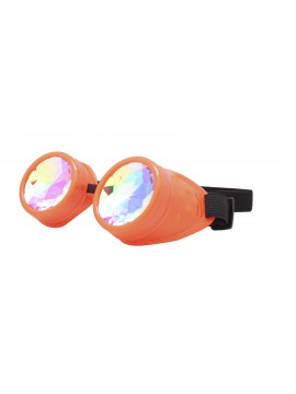 Renc Steampunk Goggles Sunglasses, Neon Red