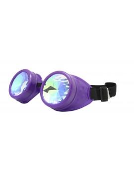 Renc Steampunk Goggles Sunglasses, Purple