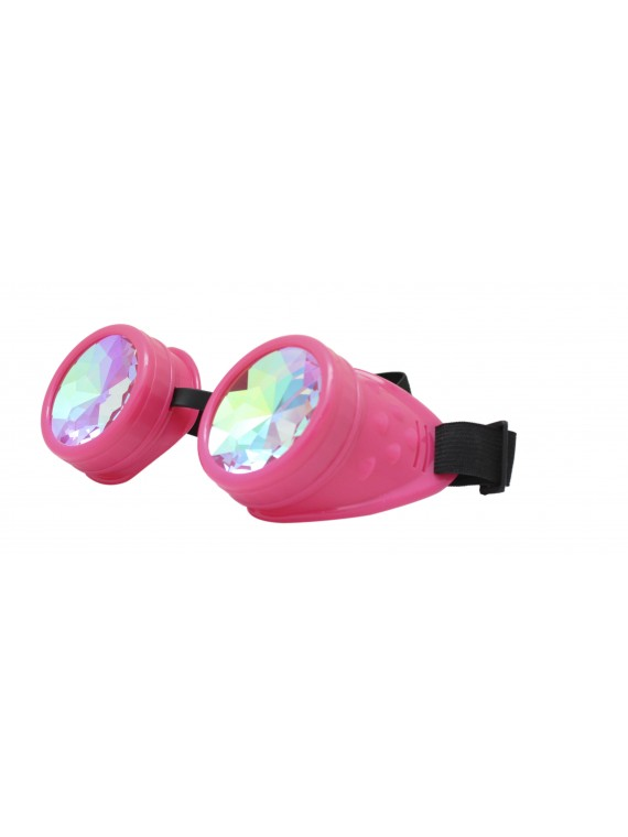 Renc Steampunk Goggles Sunglasses, Rose Pink