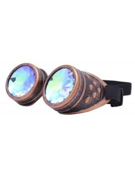 Renc Steampunk Goggles Sunglasses, Rusty Copper