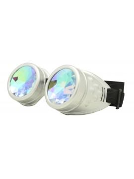 Renc Steampunk Goggles Sunglasses, Silver