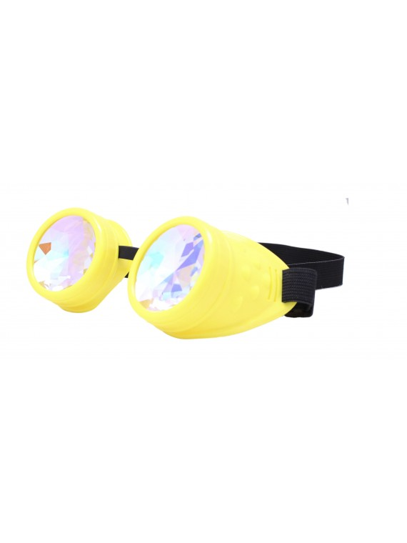 Renc Steampunk Goggles Sunglasses, Yellow