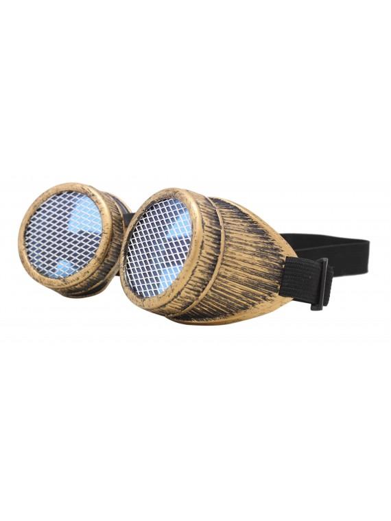 Ficta Steampunk Goggles Sunglasses, Dirty Bronze